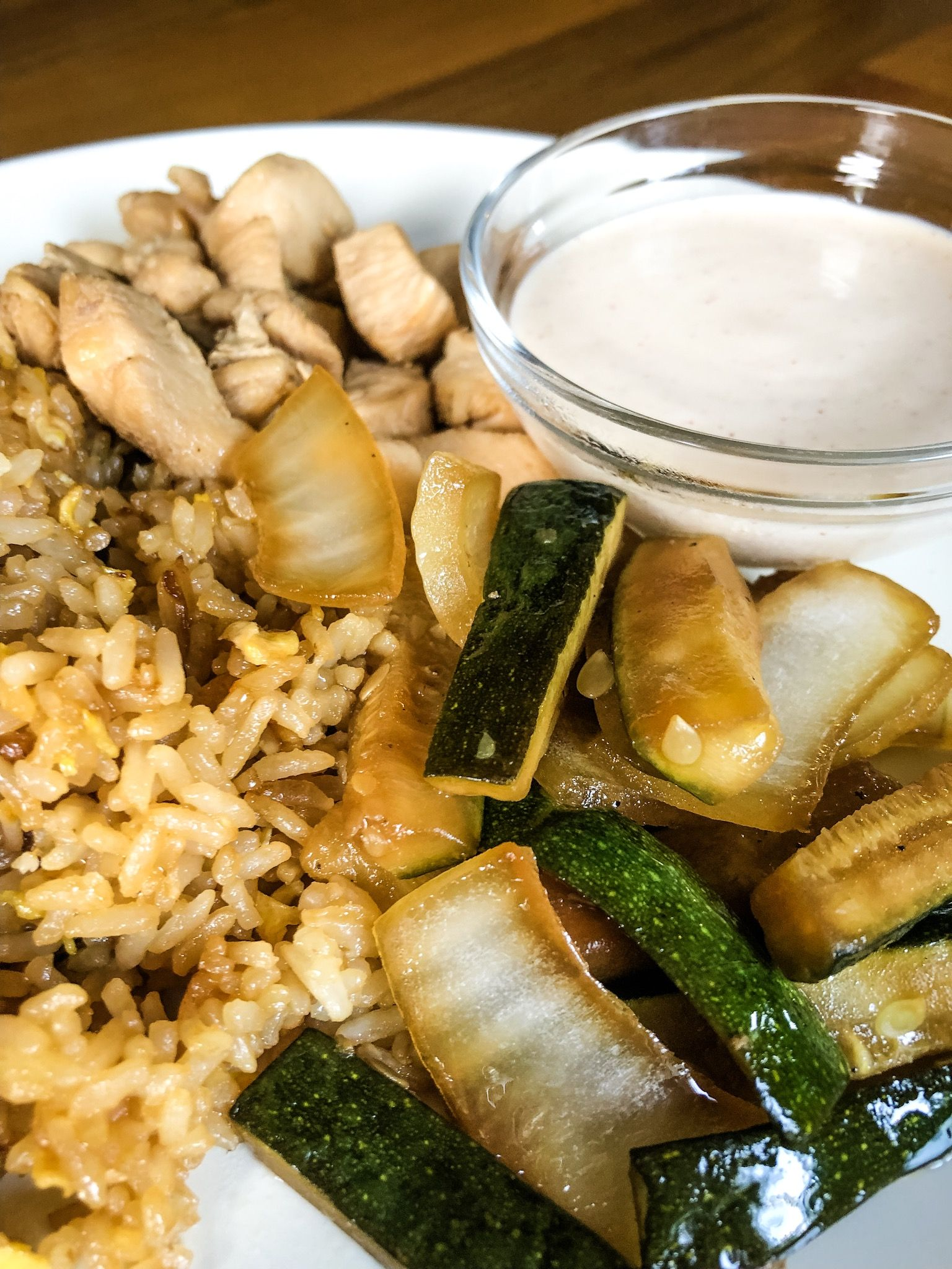 Hibachi Chicken Vegetables With Fried Rice Hibachi Chicken