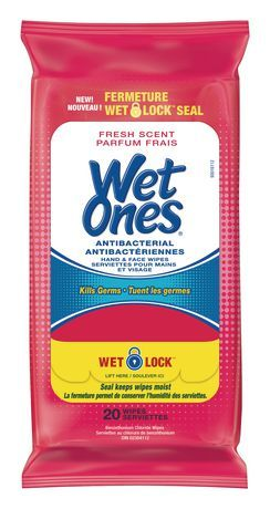 Wet Ones Antibacterial Fresh Scented Hand And Face Wet Wipes