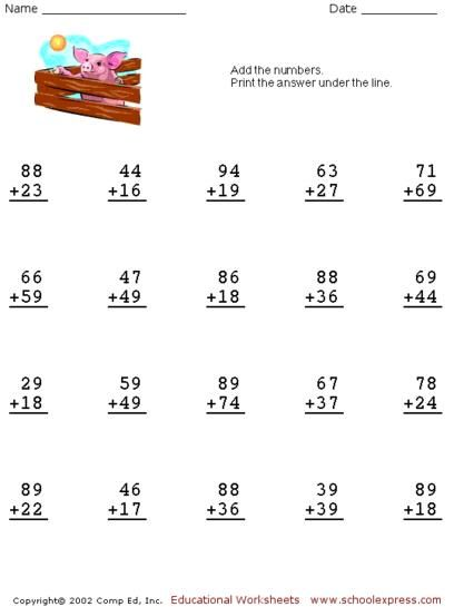 Schoolexpress Com 19000 Free Worksheets Create Your Own Worksheets Games Math Fact Worksheets Math Addition Worksheets Kids Math Worksheets
