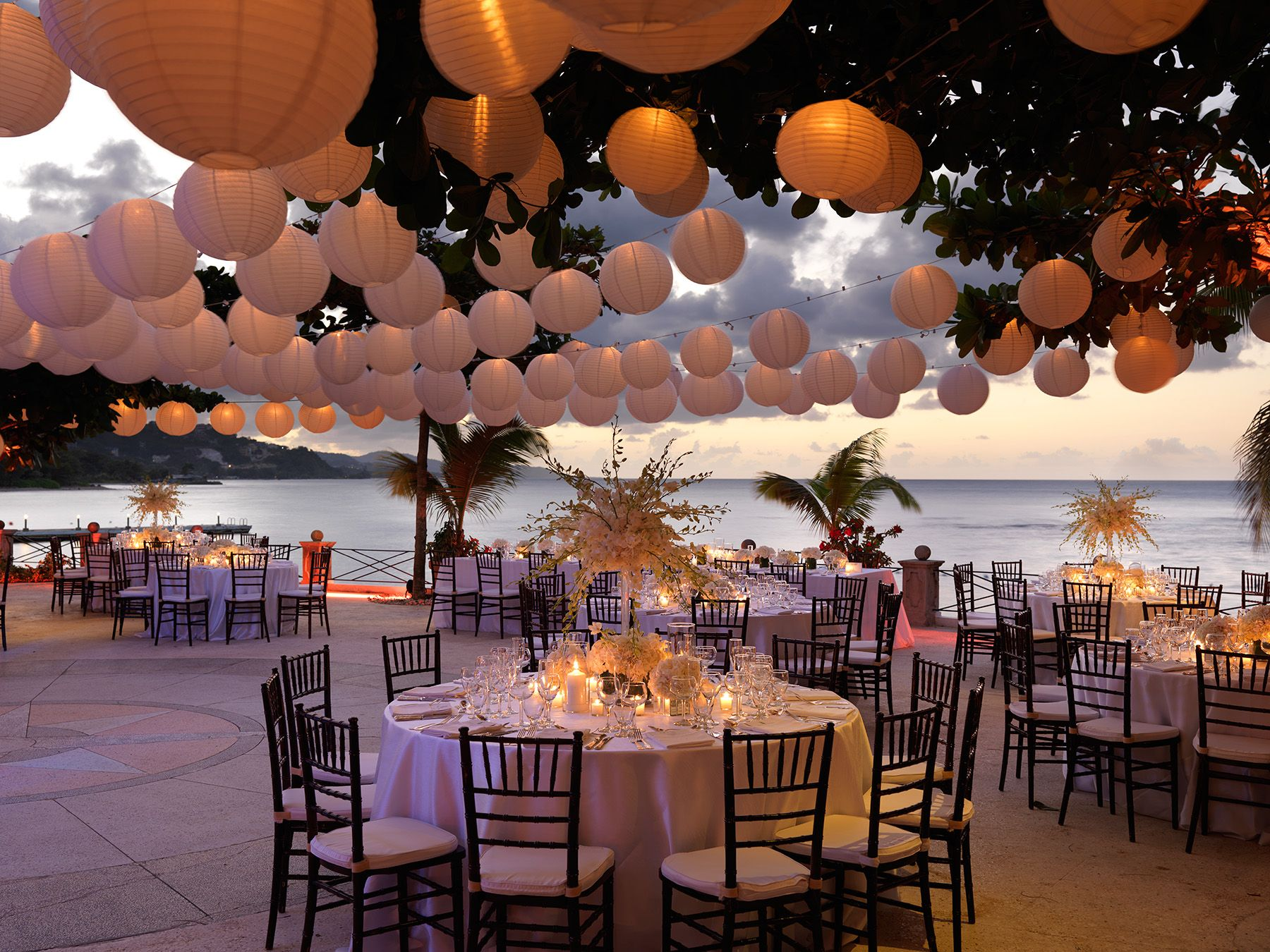 Seaside terrace wedding reception at round hill hotel and villas in seaside terrace wedding reception at round hill hotel and villas in montego bay jamaica junglespirit Image collections