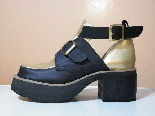 7c67ac39f48 Zapato Sandalia De Cuero 2 Hebillas