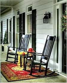 Love The Living Area Look From The Rocking Chairs On The Area Rug Outdoor Rocking Chairs Porch Rocker Rocking Chair
