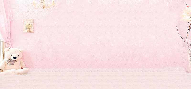 Pink Cute Cottage Pink Wall Pink Bear Pink Background Images Cute Pink Background Pink Walls