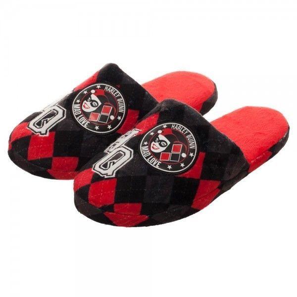 3015bd428b9 Harley Quinn Women s Slippers Shoes Slides Soft 5 6 7 8 9 10 DC Comics Mad  Love  Bioworld  SlipperShoes