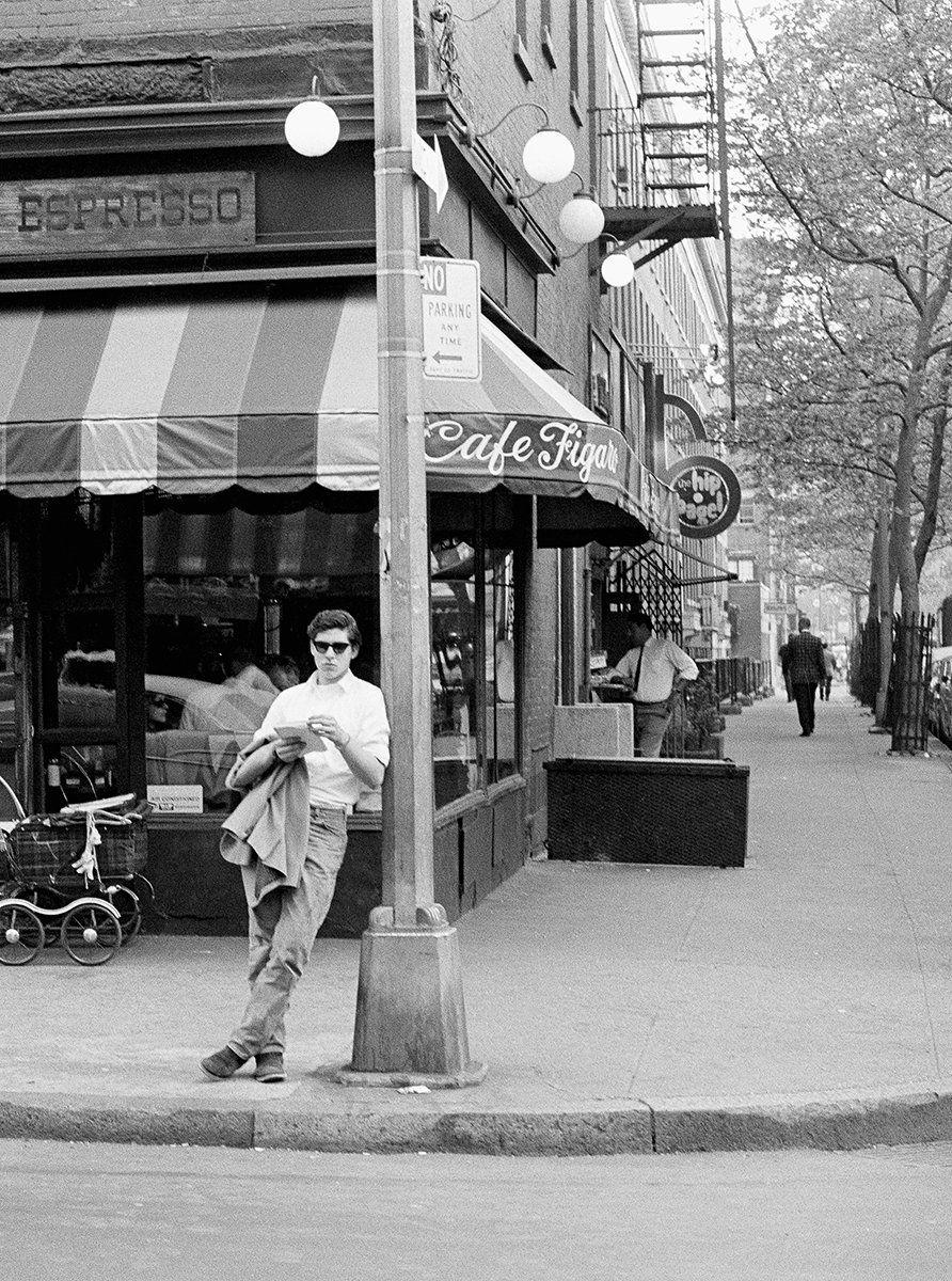 Robert Otter, Café Figaro (detail), on the corner of MacDougal and BleeckerStreets, 1965