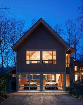 Contemporary Garage Apartment laurel hills studio + garage - contemporary - garage and shed