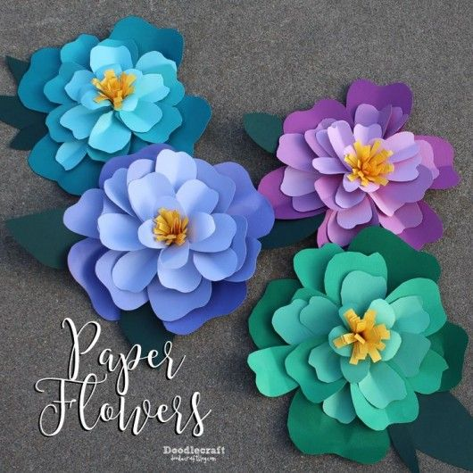 DIY Giant Paper flowers. Easy backdrop flower tutorial with ...