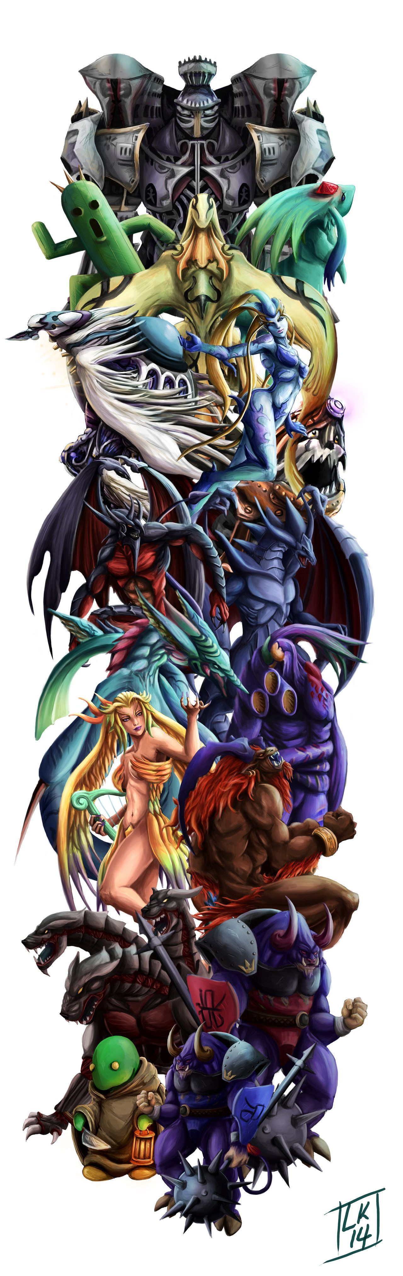 Final Fantasy VIII GF Guardian Forces by LornaKelleherArt