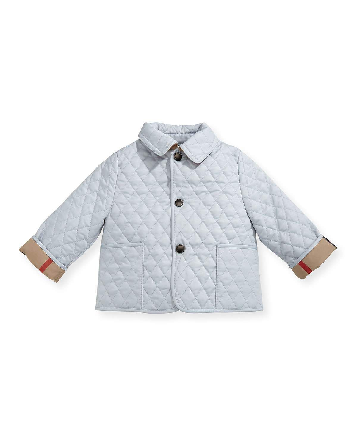 Burberry Colin Quilted Collared Jacket Light Blue Size 3 24 Months Jackets Clothes Baby Pants