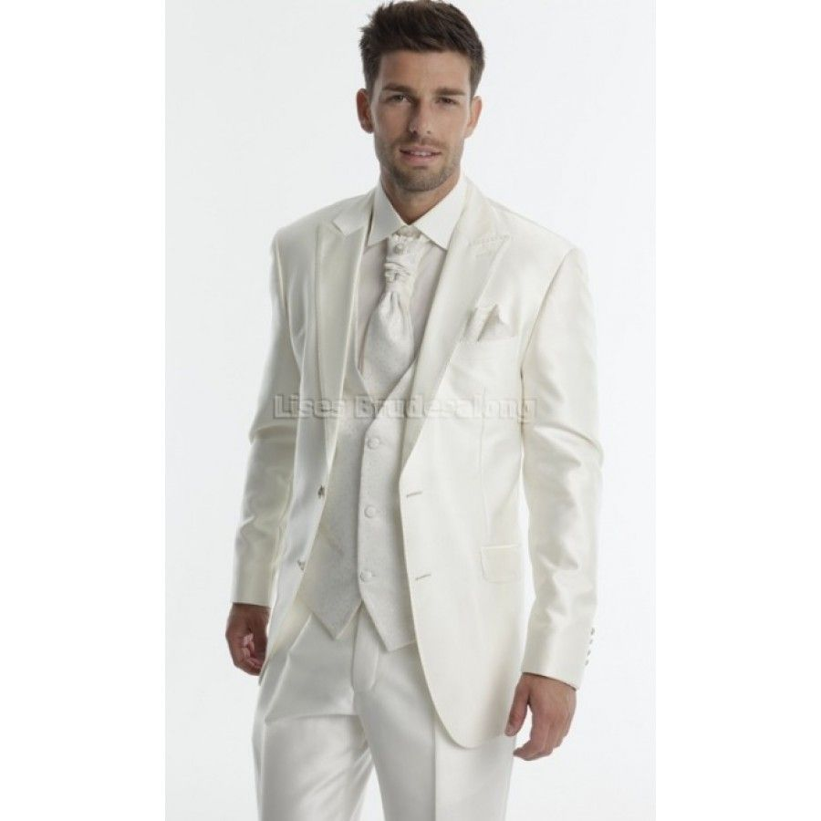 What do you think of this groom in his white suit? | White Space ...