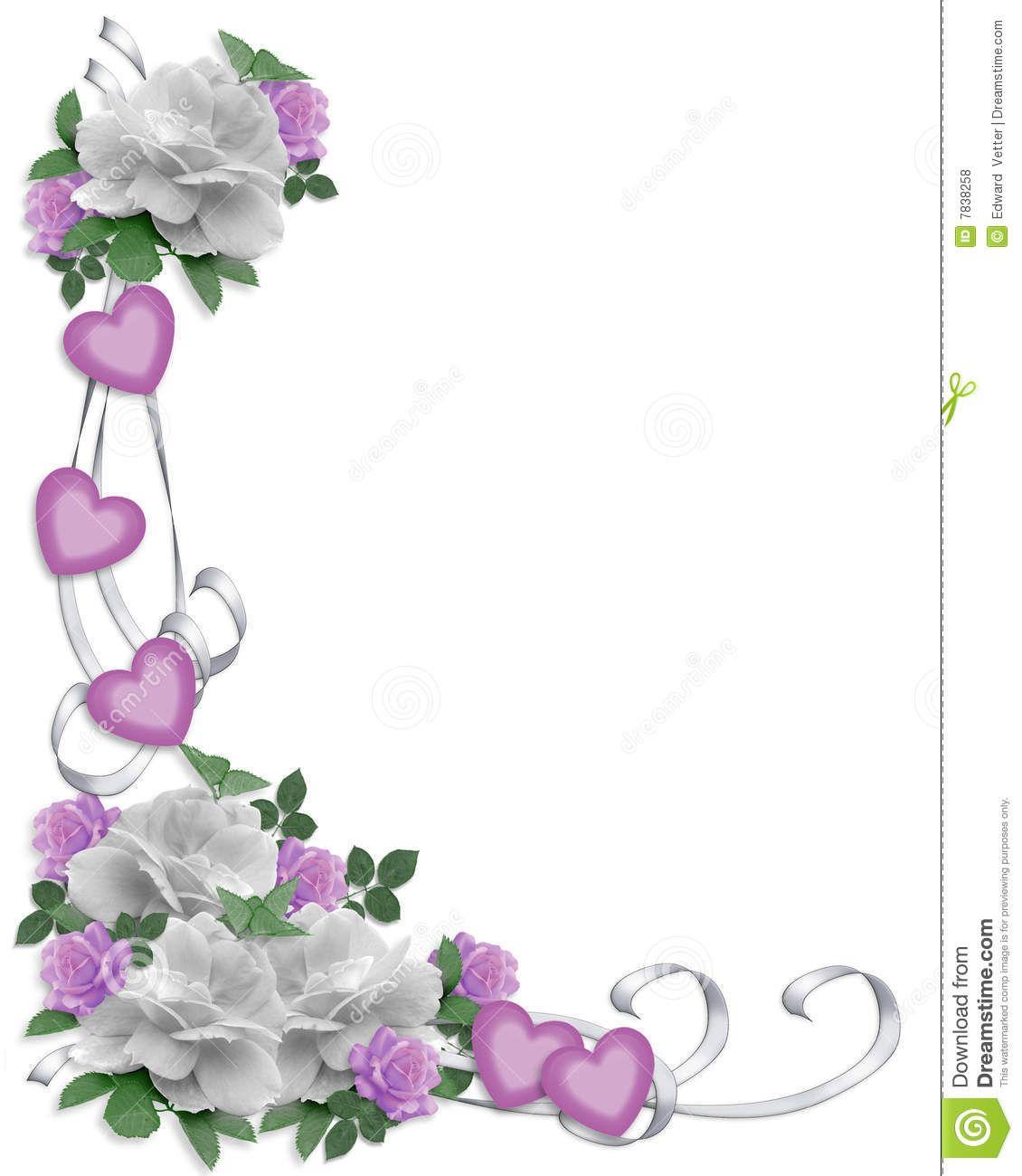 Wedding Borders: Wedding Invitation Border White Roses