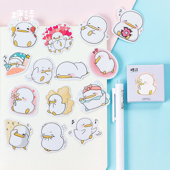 45Pcs Cute Cartoon Dog Diary Paper Label Stickers DIY Scrapbook Stickers Gifts