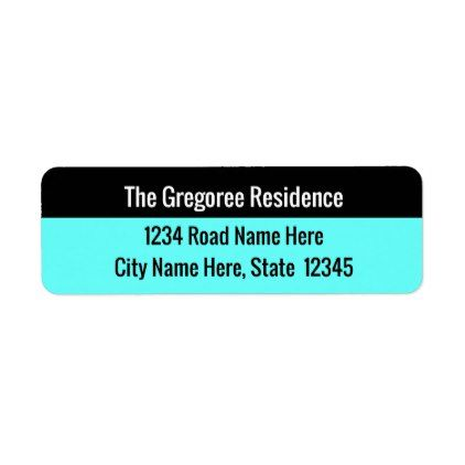basic return address label return address labels label diy