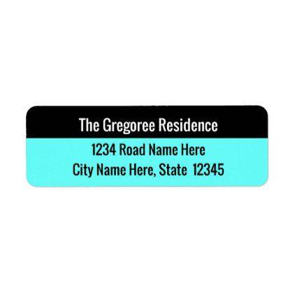 basic return address label plain gifts style diy cyo plain