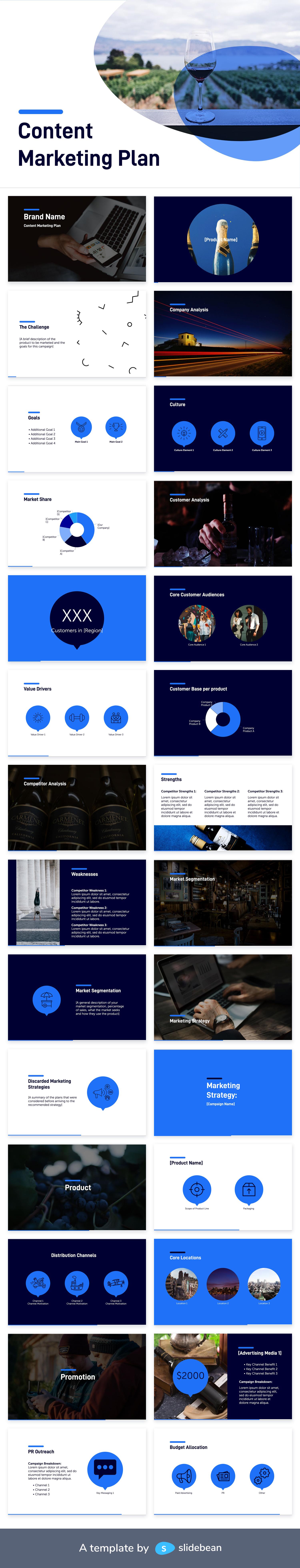 Content Marketing Plan AI Presentation Template