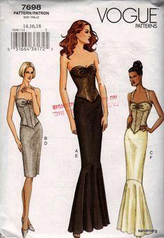 Mermaid Style Dress Pattern
