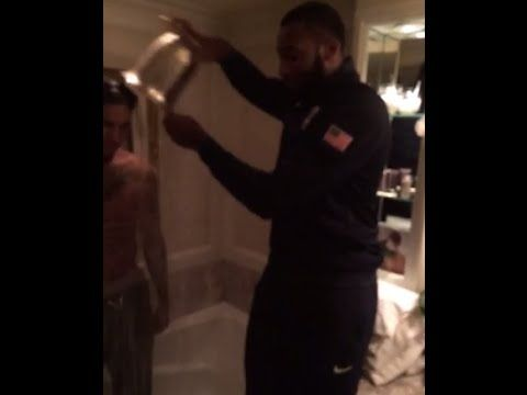 w/ Andre Drummond does the Ice Bucket Challenge on Hang w/