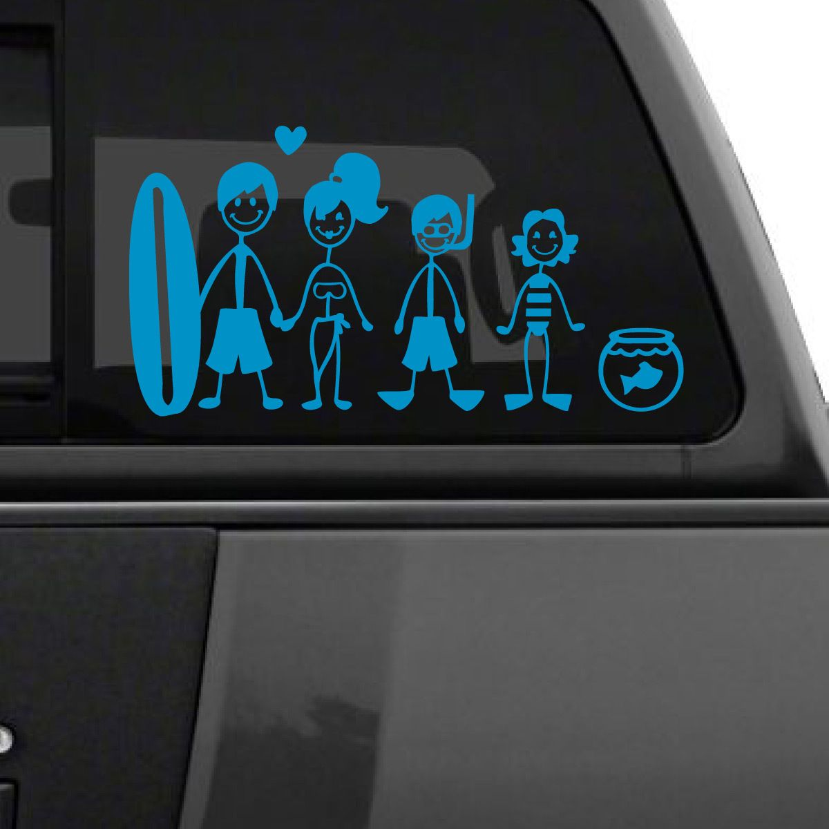 Beach Family Car Decal Family Car Decals Car Decals Family Car Stickers [ 1200 x 1200 Pixel ]