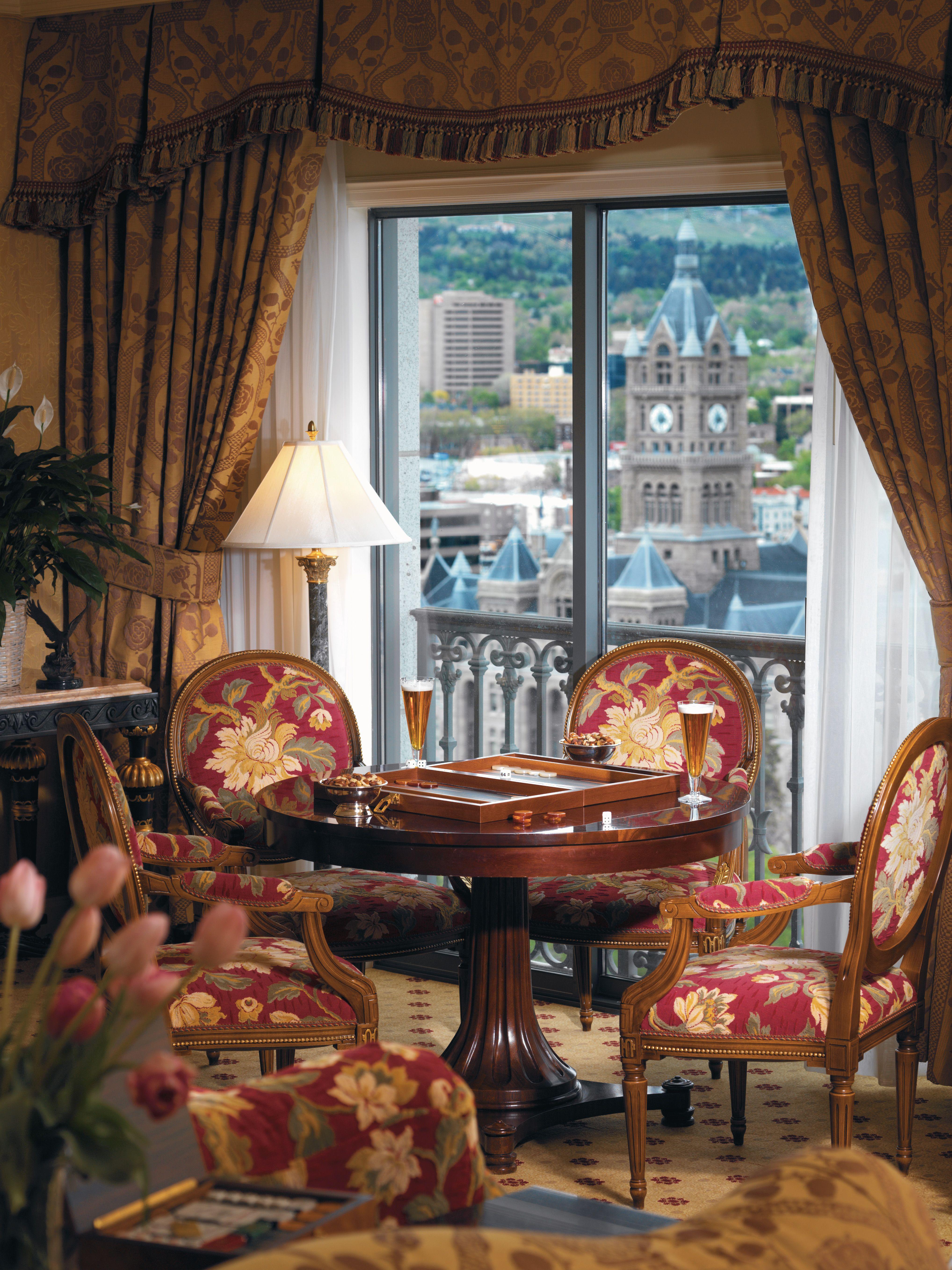 View from the Grand America Hotel Salt lake city ut