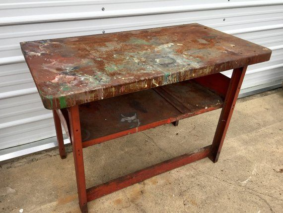 Cool 1940S Steel Workbench Vintage Metal Table Industrial Beatyapartments Chair Design Images Beatyapartmentscom
