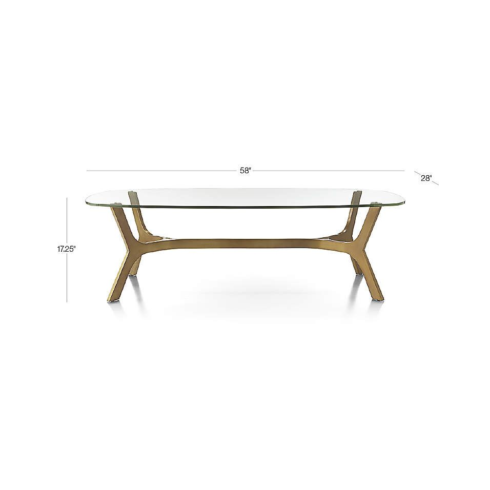 Elke Rectangular Glass Coffee Table With Brass Base Reviews Crate And Barrel Glass Coffee Table Rectangular Glass Coffee Table Coffee Table [ 956 x 956 Pixel ]