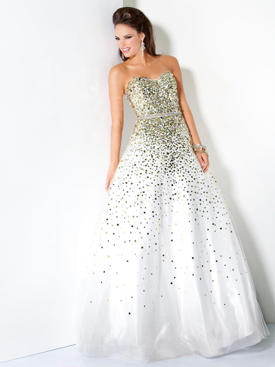 Prom dresses gold fashion white gold and teen