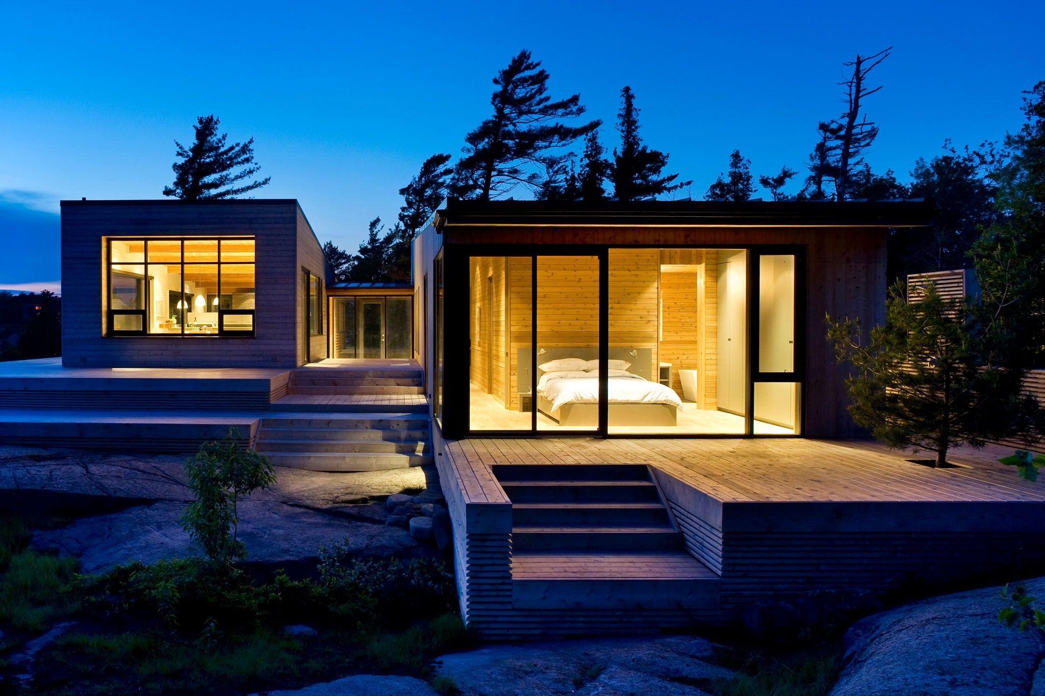Shift Cottage Superkul Modern Lake House Modern Cottage Contemporary Cottage