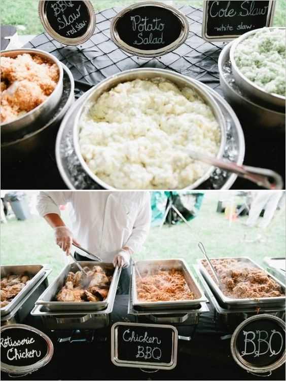 Top 25 rustic barbecue bbq wedding ideas barbecues for Food bar ideas for wedding reception