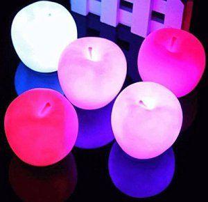 Lumineux 7 5 1pcs Changement Solmore Lampe Led Pomme 5 5cm Veilleuse iXuTPkOZ