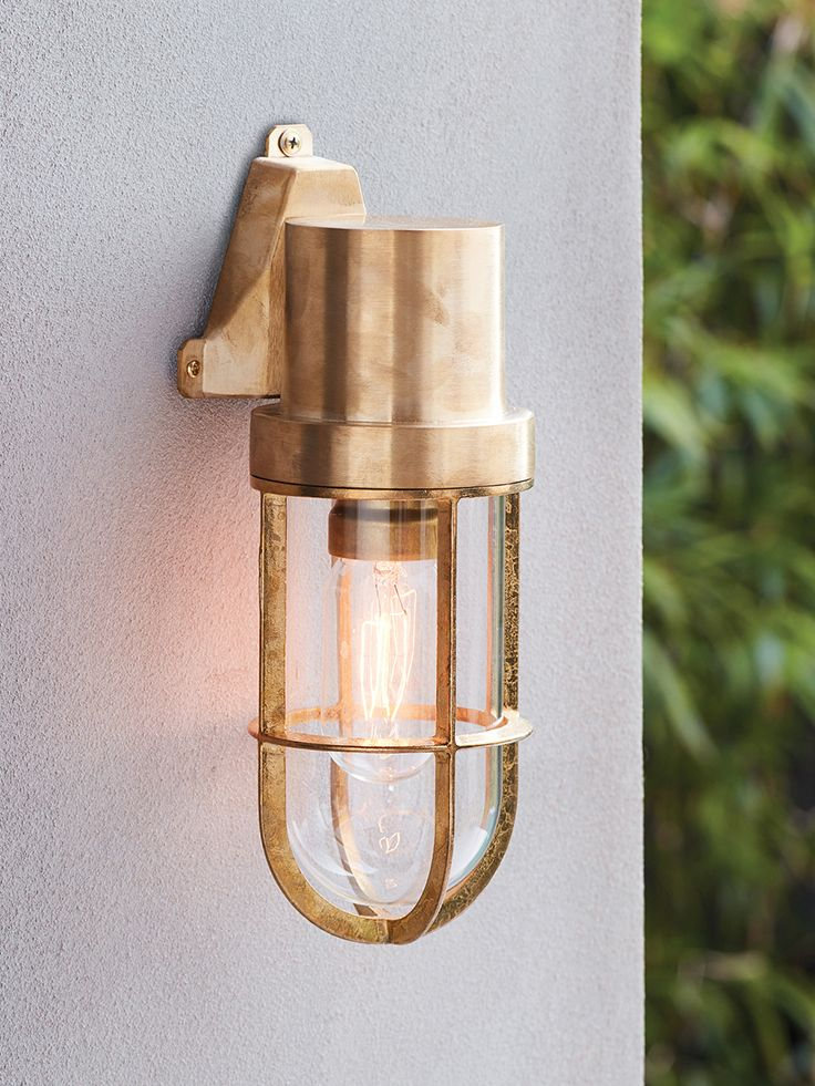 Norwest Wall Sconce In Solid Brass Brass Outdoor Lighting Wall Sconces Outdoor Sconces