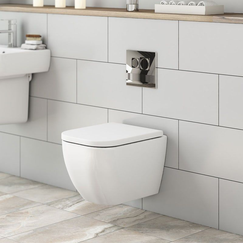 Mode Ellis Short Projection Wall Hung Toilet With Soft Close Seat