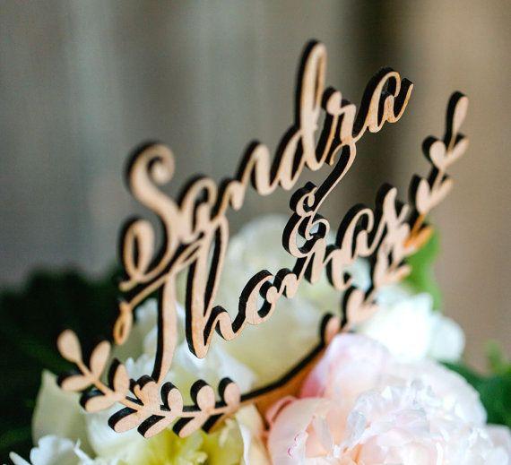 Personalisierte Kuchen Topper Hochzeitstorte von CorkCountryCottage