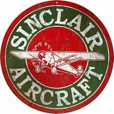 "4/"" RUSTY SINCLAIR HC GASOLINE GAS DECAL SINC-1R"