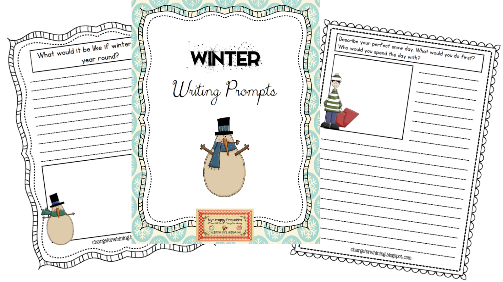 Winter Writing Prompt Printables For Free