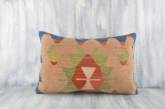 Bohemian Sham Cover, 16x24 Pillow Case, Home Decor, Boho Carpet Pillow, Handwoven Kilim Cushion Cover, Couch Kilim Pillow, Home Decor