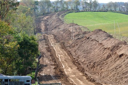 New pipeline excavation work in the Claysville, Pa area