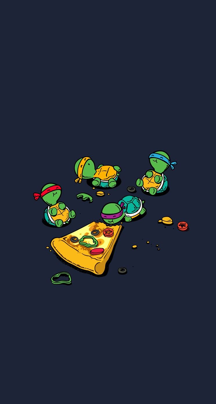 Teenage mutant ninja turtles pizza wallpaper | Wallpaper ideas ...