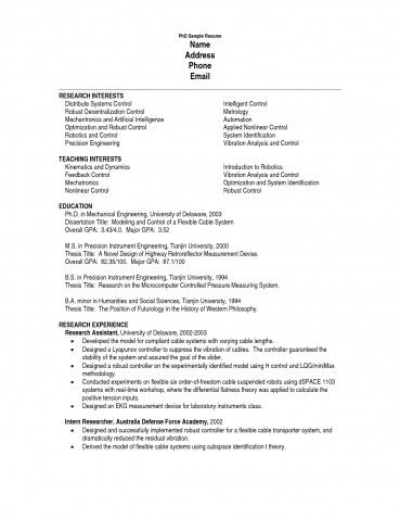Agreeable Latex Resume Template Phd In Popular Examples Free