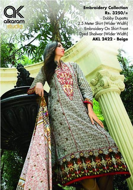 Sana Safinaz Online Store Alkaram mid Summer Collection 2014