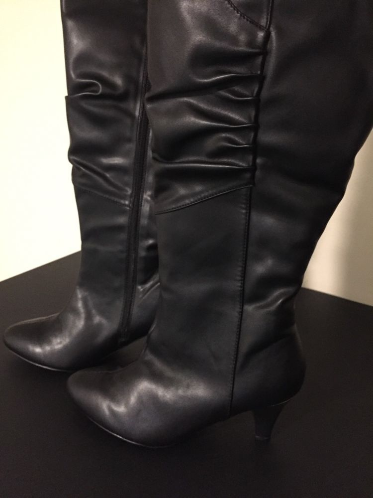 c3cef500f64 Wow Womens Leather Boots size 9 with 2 1 2 inch heels. Knee hi length boots.   fashion  clothing  shoes  accessories  womensshoes  boots (ebay link)