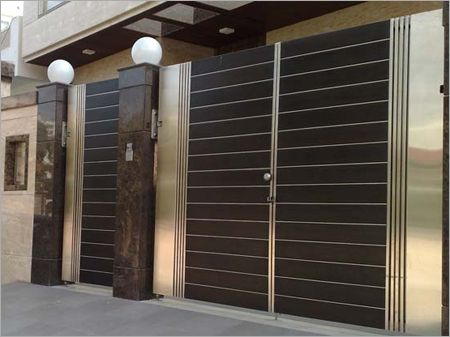 Ss main gate design manufacturers amp suppliers in mumbai - Sliding main gate design for home ...