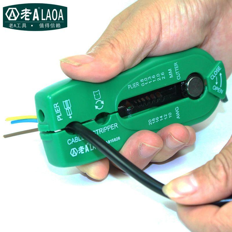 LAOA Portable Multifunctional Wire Pliers Palm wire stripper crimp ...