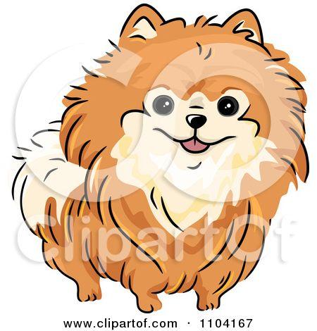 Royalty Free Rf Orange Pomeranian Clipart Illustrations Vector