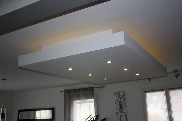 Decaissement Decroche Design Faux Plafond Ilot Central Moderne Plafond Descendu Spot Suspendu Ruban Faux Plafond Faux Plafond Cuisine Plafond Cuisine