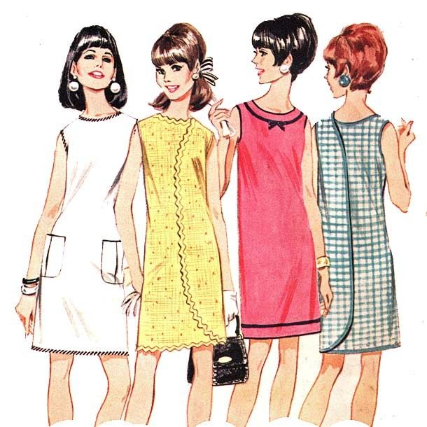 illustrated fashion models from the 1960s