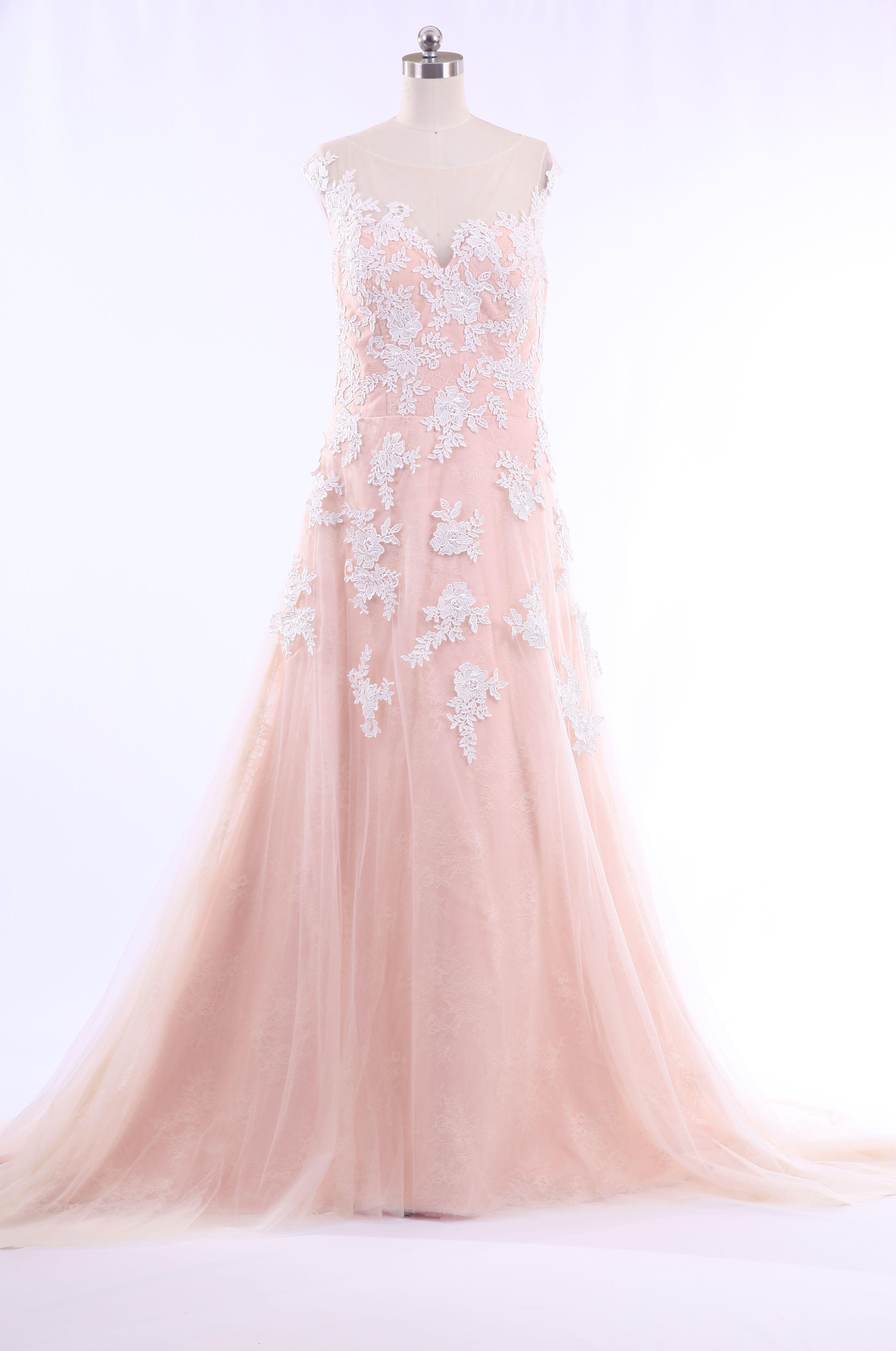 Elegant A-line Lace and Satin Bateau Neckline Wedding dress W9260 ...