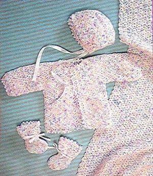 Free pattern Crochet Baby Set jacket cardigan, bonnet, hat, booties, rug, blanket