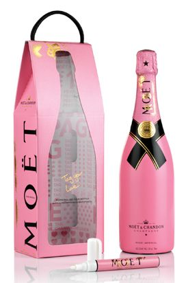 81974e65c7a1 MOET   CHANDON IMPERIAL ROSE » Graffiti Love Bag »  73.50 ...