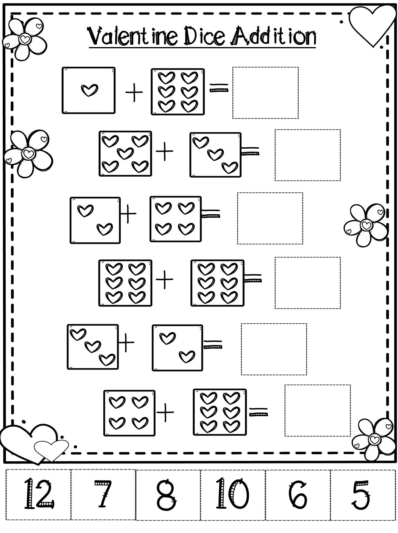 Valentine Day Math Activities