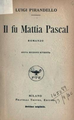 """Luigi Pirandello Rappresentati principale italiano del """"nuovo romanzo"""""""